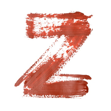 fount: Z - Red letters over white background Stock Photo