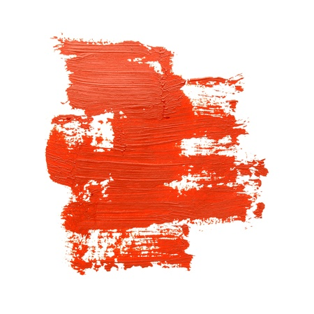 Red brush strokes on the white background Stock Photo - 21470485