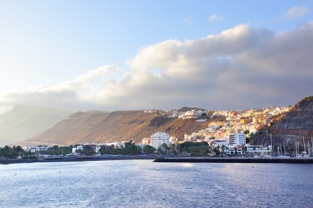 san sebastian: San Sebastian de La Gomera at sundown, Canary Islands