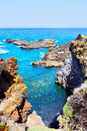 canarias: Rocky coast near Los Cancajos, La Palma, Canarias