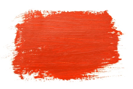 Red brush strokes over the white background