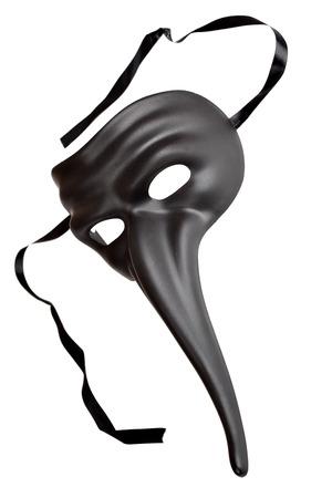 masque de venise: Venise masque traditionnel avec un gros nez isol� sur le fond blanc
