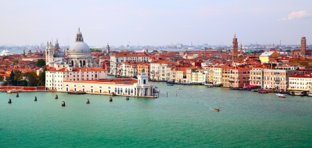 Panorama of Grand canal, Venice, Italy photo