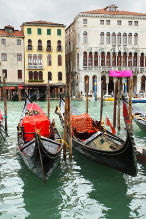 Gondolas on Grand Canal, Venice, Italy photo