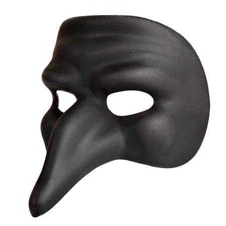 masque de venise: Masque traditionnel de Venise avec un gros nez isol� sur le fond blanc