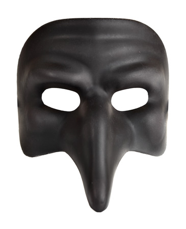 venice mask: Traditional venice mask with big nose  Zanni  isolated over the white background Stock Photo