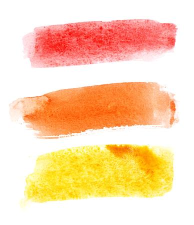 Colorful watercolor brush strokes over white 版權商用圖片 - 23793363