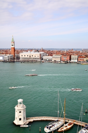 curch: View to Venice from San Giorgio, Italy