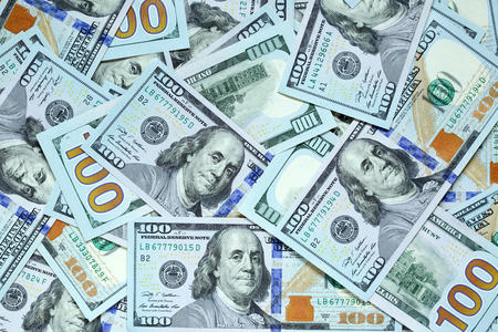 Background with new hundred dollar bills Stock Photo - 25867988