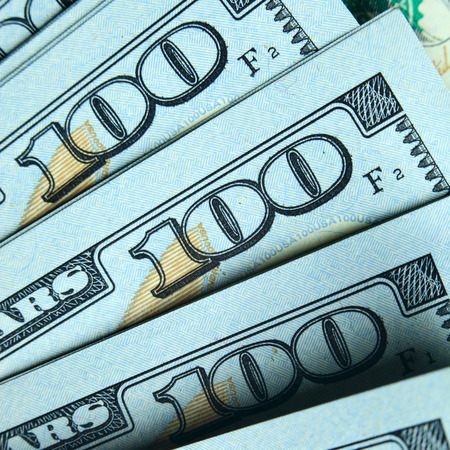 us paper currency: New hundred dollar bills close-up