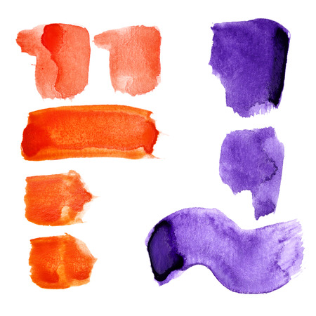 fount: Marks - Watercolor letters over white background Stock Photo