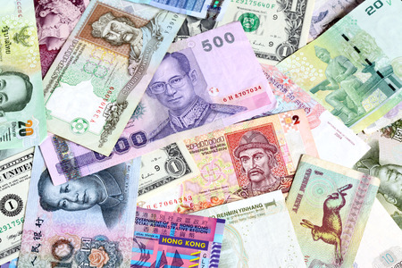 Money background - Various banknotes close-up photo
