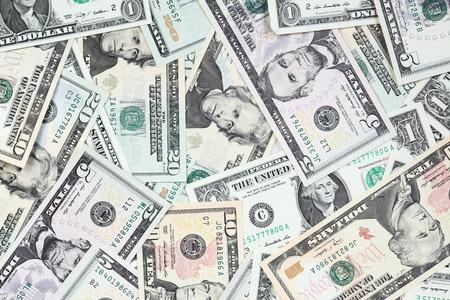 one dollar bill: Heap of  dollars close-up