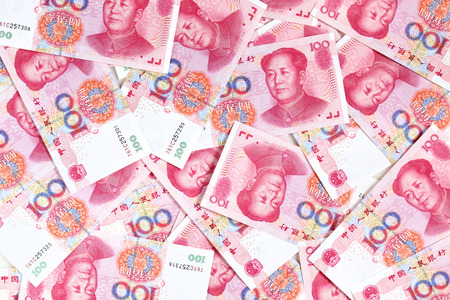 Chinese yuan renminbi bankbiljetten close-up Stockfoto