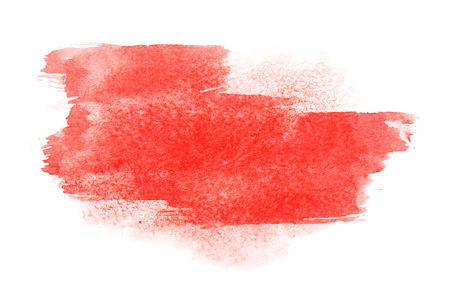 with space for text: Red watercolor brush strokes - space for your own text Stock Photo