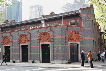 cpc: SHANGHAI, CHINA - APRIL 9, 2014  Building where was The founding National Congress of the Communist Party of China  CPC  in July 1921