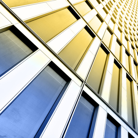 Wall of office building close-up photo