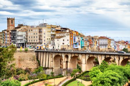 alicante: Picturesque view of La Vila Joyosa town, Costa Blanca, Spain