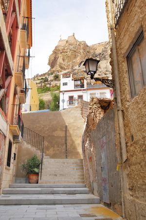 alicante: Old street in Alicante, Spain