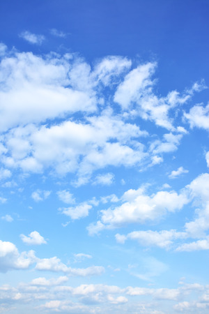 blue sky: Blue sky with clouds, may be used as background