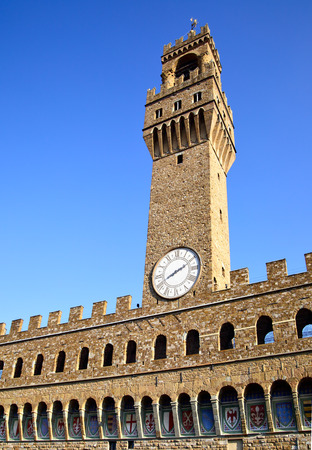 Famous tower of Palazzo Vecchio, Florence, Italy photo