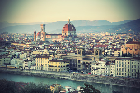 Panoramic view of Florence, Tuscany, Italy Stock Photo