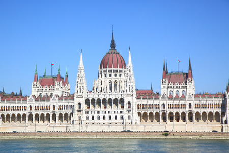 Building of the Parliament in Budapest, Hungary photo