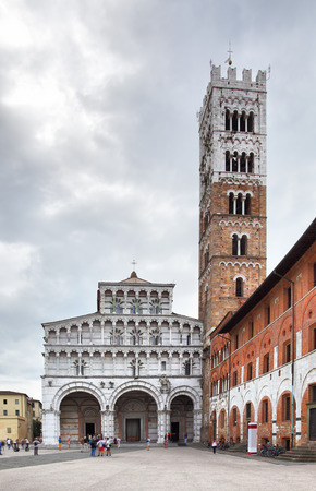 martino: San Martino Cathedral in Lucca, Italy Stock Photo