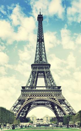 eifel: The Eiffel Tower in Paris, France. Toned image