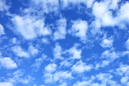 fleecy: Blue sky with clouds, may be used as background