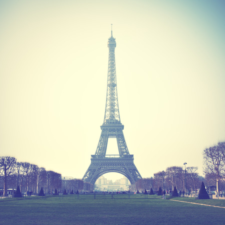 Eiffel Tower in Paris, France. Retro style image photo