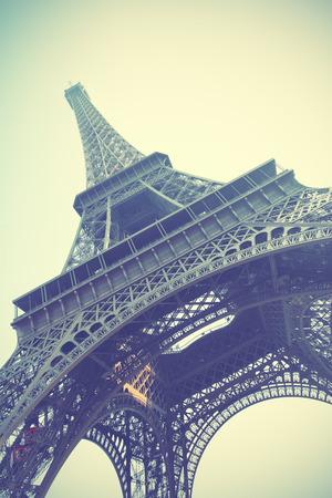 eifel: The Eiffel Tower in Paris. Retro style toned image
