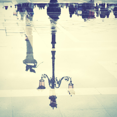 Venice reflects in puddle (Saint Mark photo