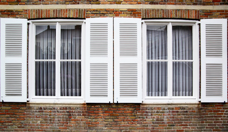 comfortableness: Windows with white shutters, Germany