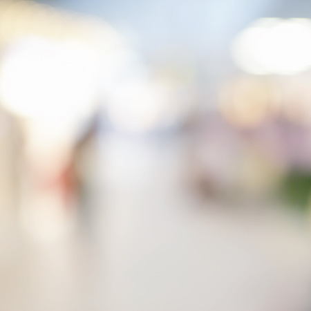 out of business: Background of duty free shop in airport out of focus Stock Photo