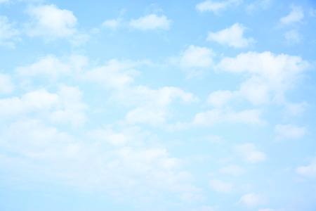 peace: Light blue sky with clouds, may be used as background