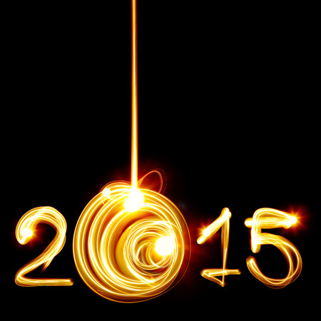 Happy New Year 2015 by light photo