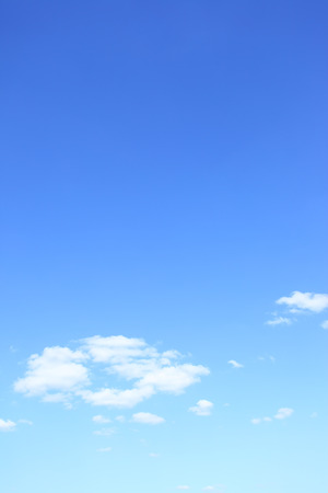 Blue sky with clouds with big space for text 写真素材