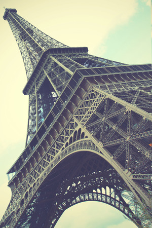 Eiffel Tower in Paris, France. Retro style toned image photo