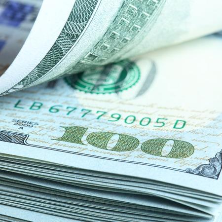 butch: Bundle of dollars close-up Stock Photo