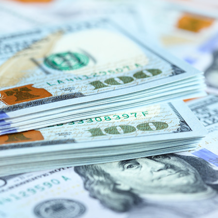 butch: US dollars close-up. Shallow DOF!