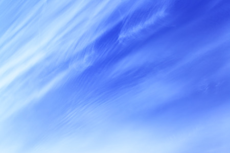 cirrus: Blue spring sky with cirrus clouds - abstract background Stock Photo