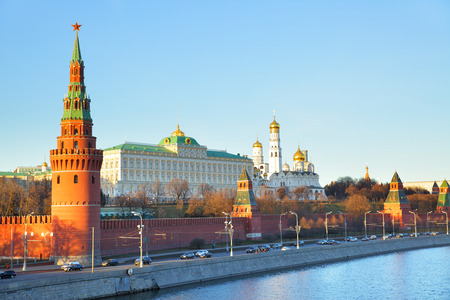 Evening view of The Moscow Kremlin, Russia