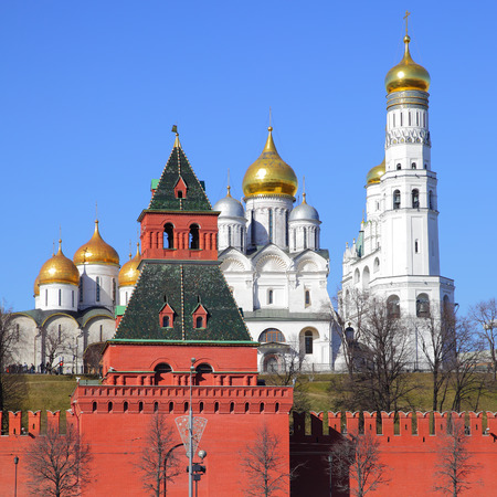 View of The Moscow Kremlin, Russia photo