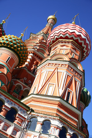 domes: Domes of St. Basil Stock Photo