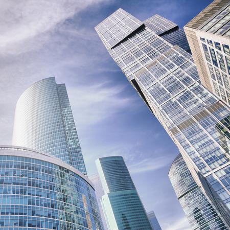 sky scraper: Skyscrapers of Moscow city, Russia Stock Photo