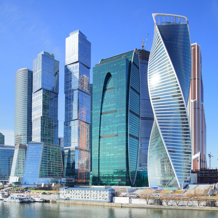 modern technology: View of Moscow City, Russia