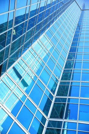 administrative buildings: Modern office building - architectural and business background