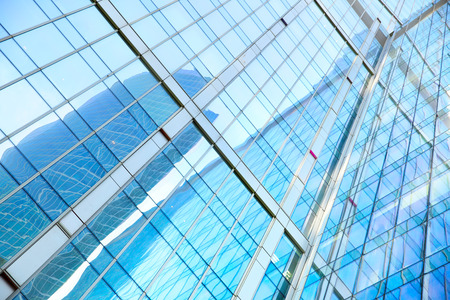 administrative buildings: Office buildings - modern architectural and business background