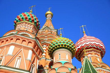 st  basil: Domes of St. Basil cathedral in Moscow Russia